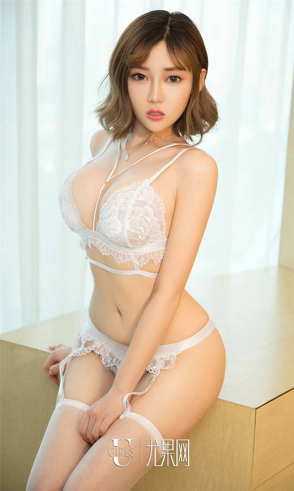 hot attractive Chinese glamour in see through lingerie