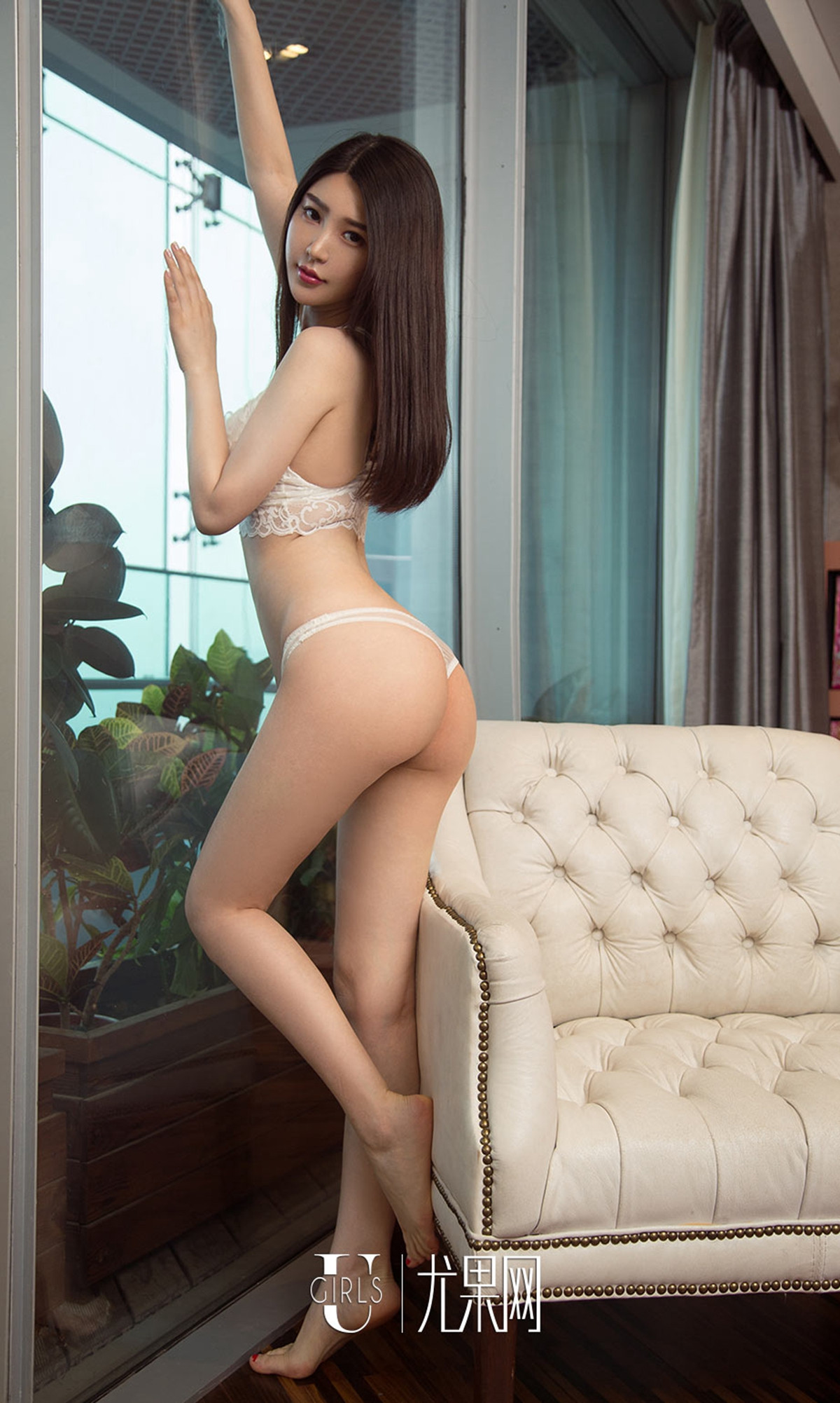 hot Chinese girl in sexy back